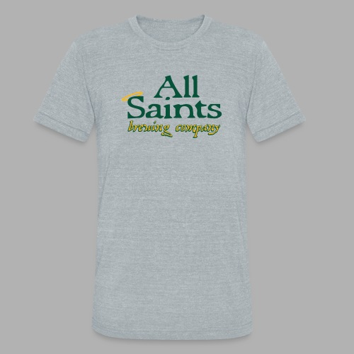 All Saints Logo Full Color - Unisex Tri-Blend T-Shirt