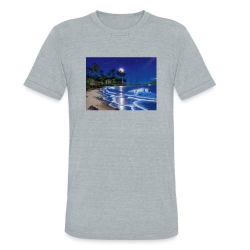full moon - Unisex Tri-Blend T-Shirt