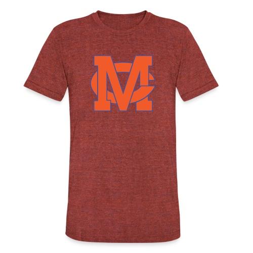 interlocking MC vector - Unisex Tri-Blend T-Shirt