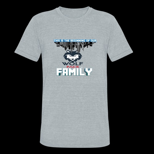 We Are Linked As One Big WolfPack Family - Unisex Tri-Blend T-Shirt