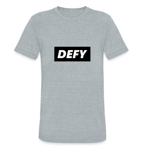 defy logo - Unisex Tri-Blend T-Shirt