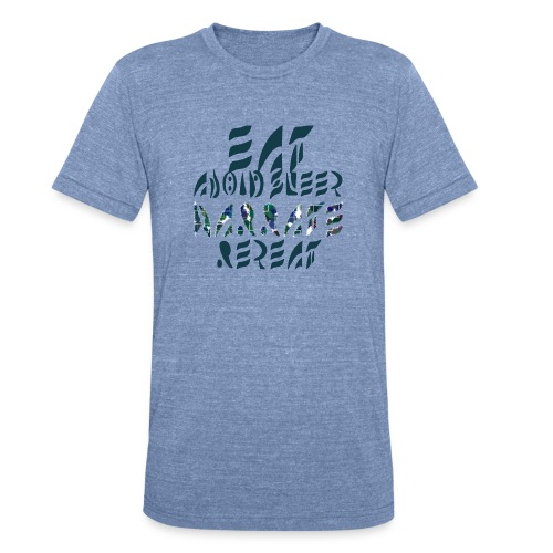 Eat Sleep Narrate Repeat - Unisex Tri-Blend T-Shirt