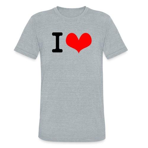 I Love what - Unisex Tri-Blend T-Shirt