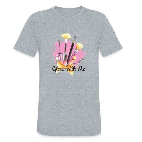 Glow With Me Makeup Logo - Unisex Tri-Blend T-Shirt