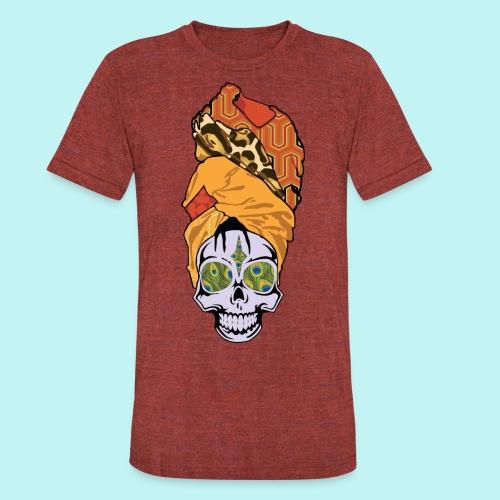 ERYKAH BADU SKULLY - Unisex Tri-Blend T-Shirt