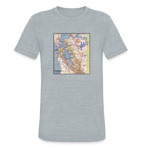 Phillips 66 Zodiac Killer Map June 26 - Unisex Tri-Blend T-Shirt