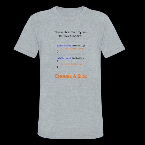 Code Styling Preference Shirt - Unisex Tri-Blend T-Shirt