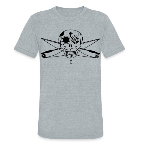 Fly Fishing Día de Muertos - Unisex Tri-Blend T-Shirt