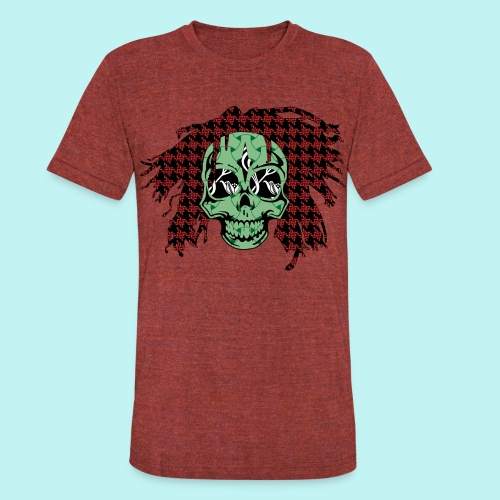 BOB MARLEY SKULLY - Unisex Tri-Blend T-Shirt