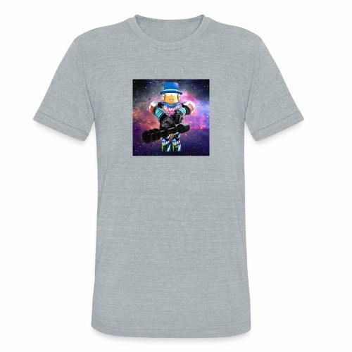 sean roblox character with minigun - Unisex Tri-Blend T-Shirt