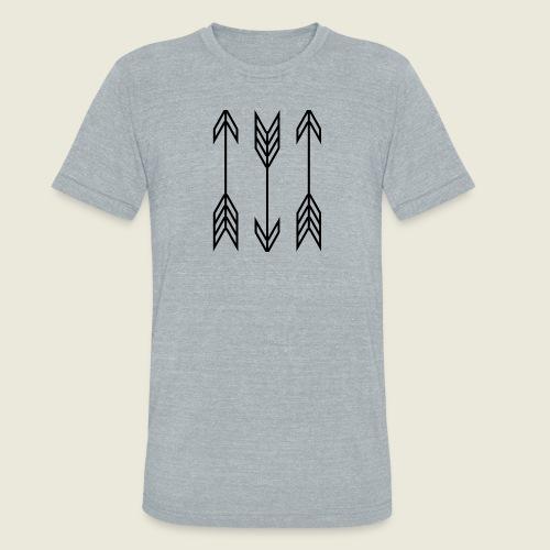 arrow symbols - Unisex Tri-Blend T-Shirt