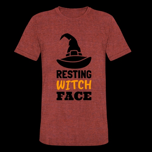 Resting Witch Face | Funny Halloween - Unisex Tri-Blend T-Shirt