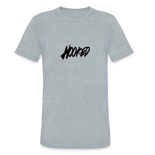 Hooked black logo - Unisex Tri-Blend T-Shirt