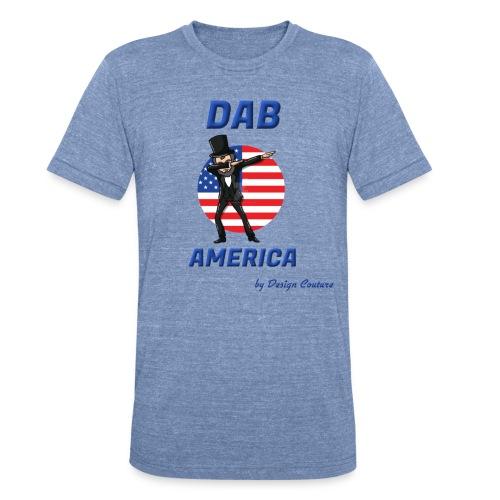 DAB AMERICA BLUE - Unisex Tri-Blend T-Shirt