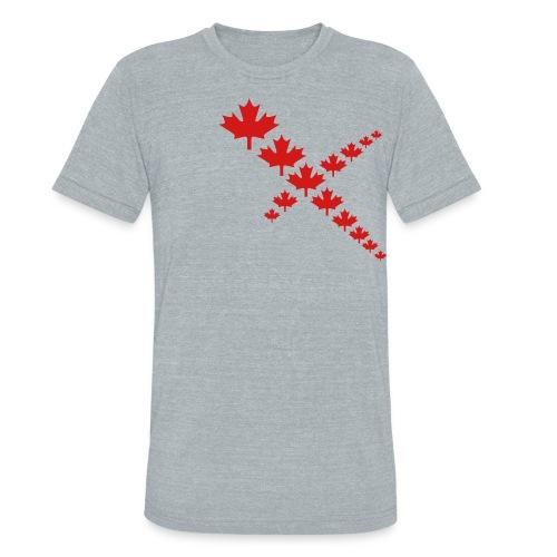 Maple Leafs Cross - Unisex Tri-Blend T-Shirt
