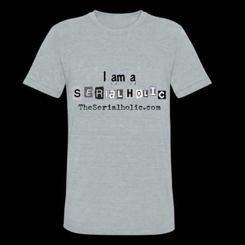 Black Serialholic Logo - Unisex Tri-Blend T-Shirt