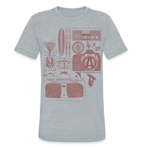 Aviator s World Red - Unisex Tri-Blend T-Shirt