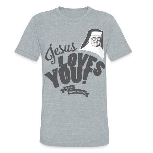 Classic Mother Angelica Dark - Unisex Tri-Blend T-Shirt