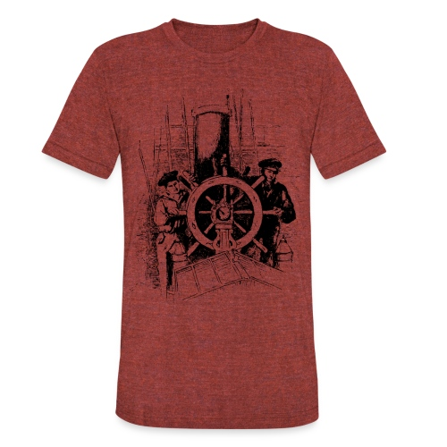 sailors at the helm - Unisex Tri-Blend T-Shirt