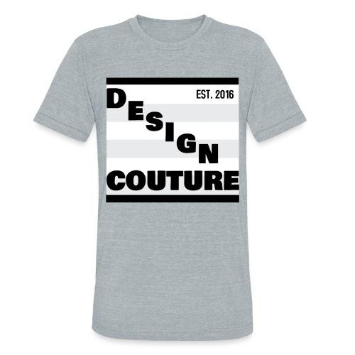 DESIGN COUTURE EST 2016 BLACK - Unisex Tri-Blend T-Shirt