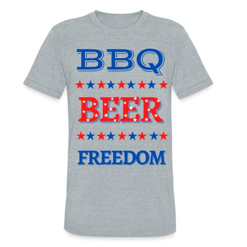 BBQ BEER FREEDOM - Unisex Tri-Blend T-Shirt