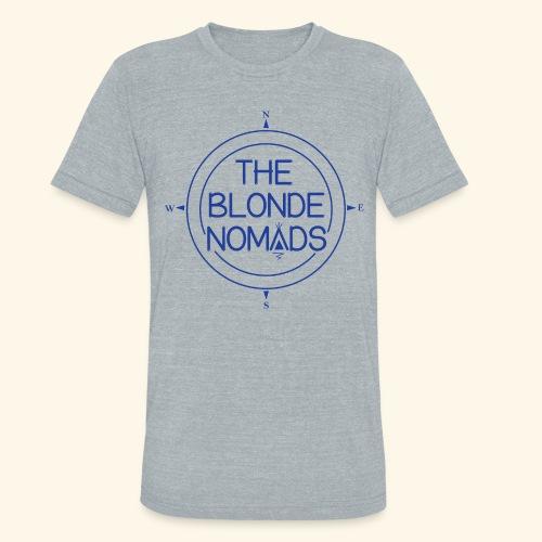 The Blonde Nomads Blue Logo - Unisex Tri-Blend T-Shirt