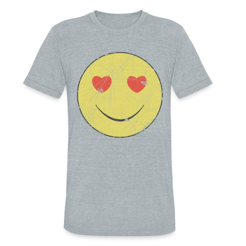 smiley face in love - Unisex Tri-Blend T-Shirt