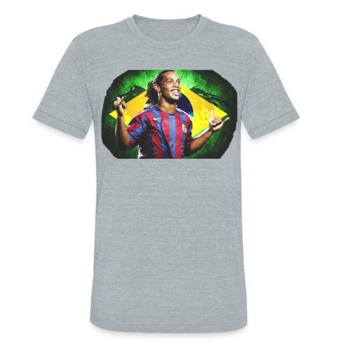 Ronaldinho Brazil/Barca print - Unisex Tri-Blend T-Shirt