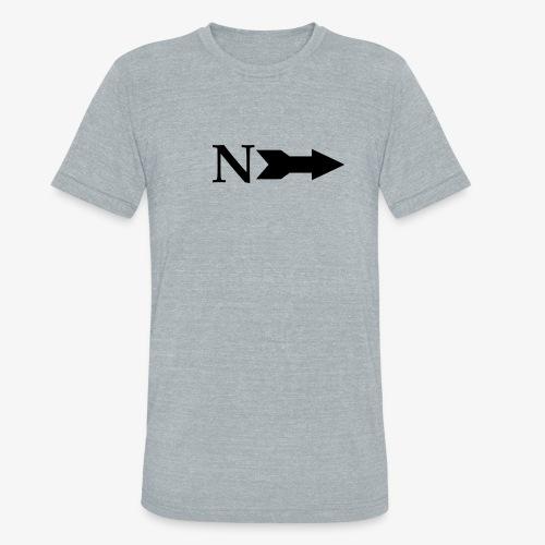 Narrow Logo Black - Unisex Tri-Blend T-Shirt