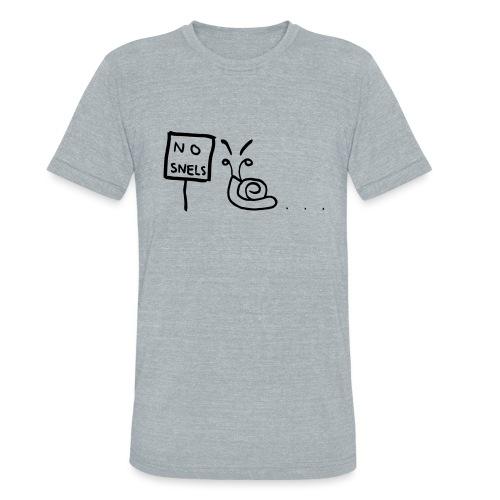 No Snels Original - Unisex Tri-Blend T-Shirt