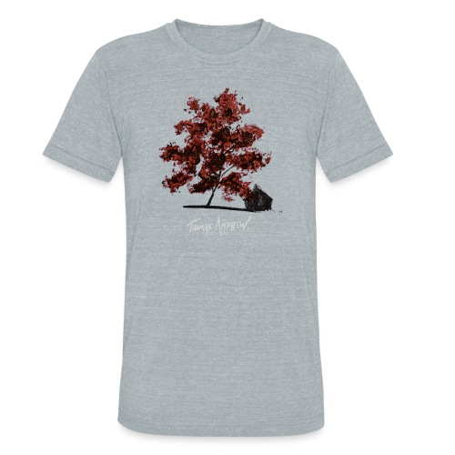 Red Tree design3PNG - Unisex Tri-Blend T-Shirt
