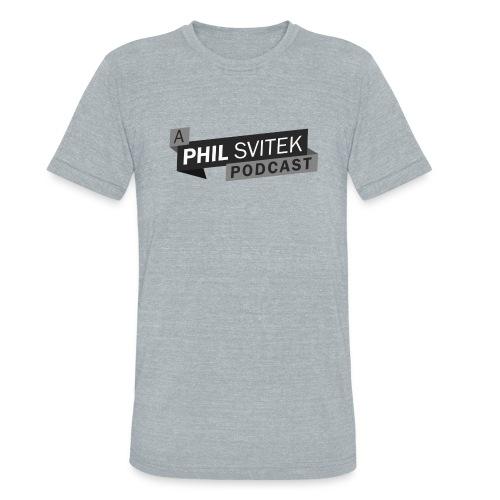 A Phil Svitek Podcast Logo ONLY Design - Unisex Tri-Blend T-Shirt