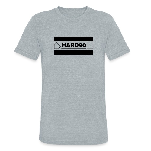 Hard 90 Logo - Unisex Tri-Blend T-Shirt
