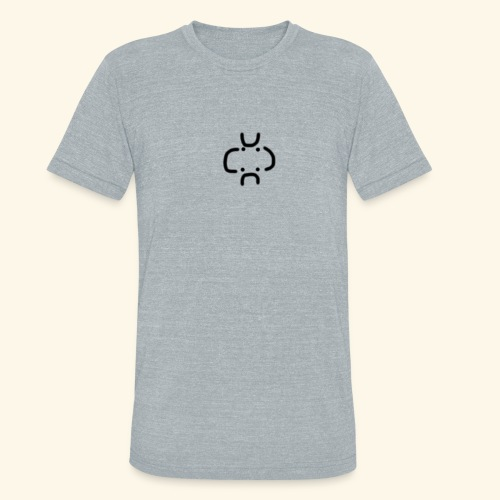 4 Visages classic design - Unisex Tri-Blend T-Shirt
