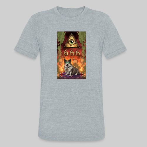 Satanic Corgi - Unisex Tri-Blend T-Shirt