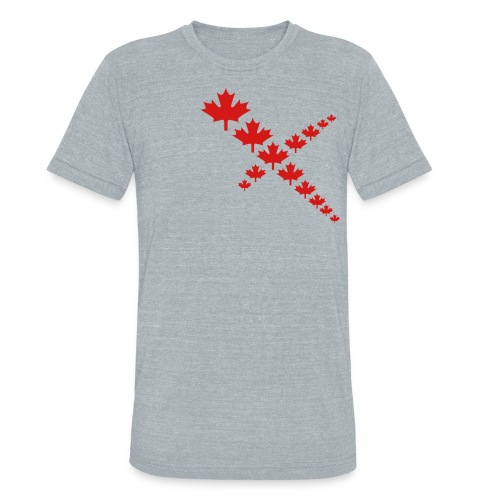 Maple Leafs Cross - Unisex Tri-Blend T-Shirt
