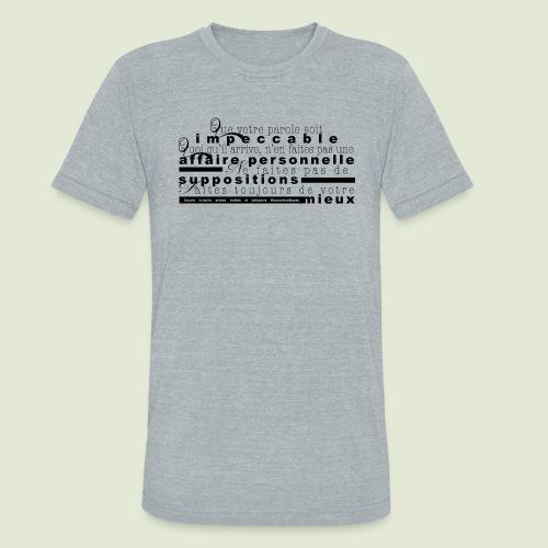 4 Accords Toltèques - Unisex Tri-Blend T-Shirt