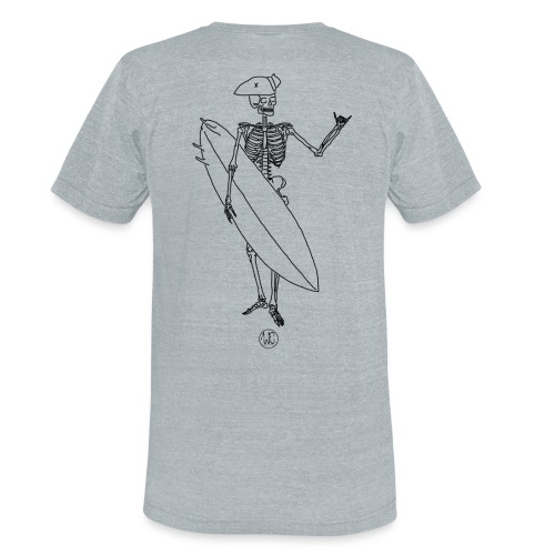 Skelly surfer - Unisex Tri-Blend T-Shirt