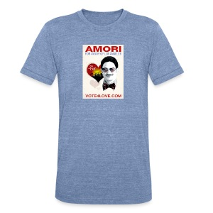Amori for Mayor of Los Angeles eco friendly shirt - Unisex Tri-Blend T-Shirt by American Apparel