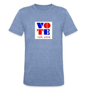 vote4love-sample - Unisex Tri-Blend T-Shirt by American Apparel
