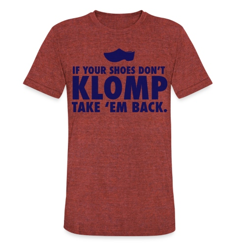 07 Klomp blue lettering - Unisex Tri-Blend T-Shirt