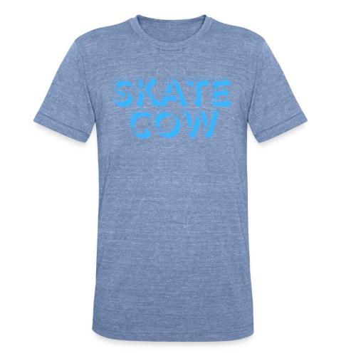 Printed Skate Cow - Unisex Tri-Blend T-Shirt