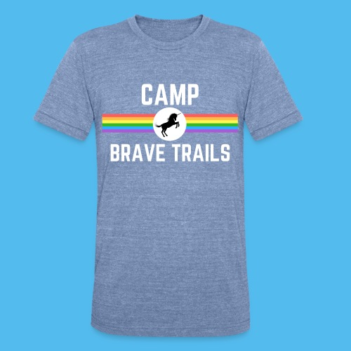 Brave Trails Triangle Rainbow Flag - Unisex Tri-Blend T-Shirt
