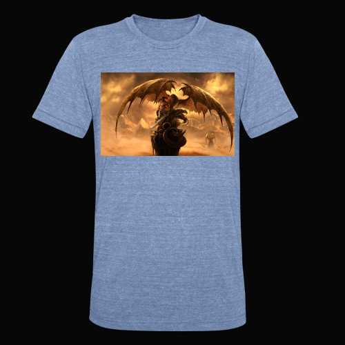 Dragon féroce - Unisex Tri-Blend T-Shirt