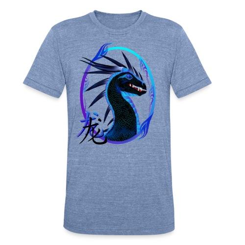 Horned Black Dragon and Symbol - Unisex Tri-Blend T-Shirt
