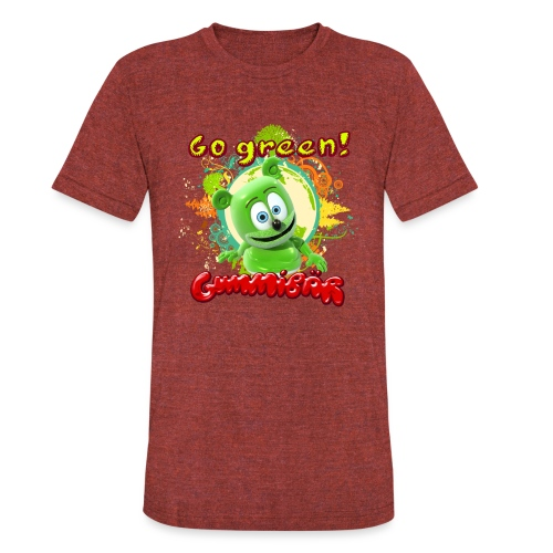 Gummibär Go Green Earth Day Trees - Unisex Tri-Blend T-Shirt