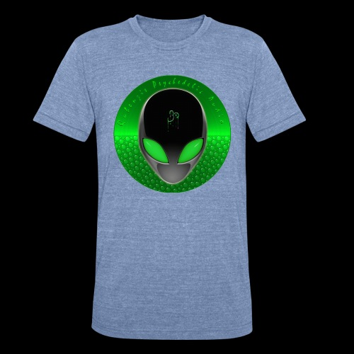 Psychedelic Alien Dolphin Green Cetacean Inspired - Unisex Tri-Blend T-Shirt