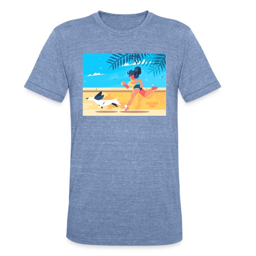 run for fun - Unisex Tri-Blend T-Shirt