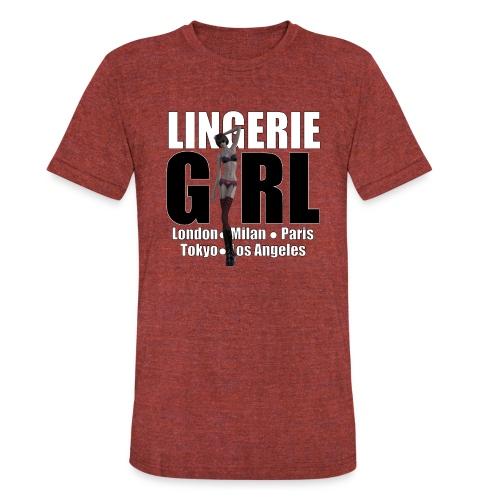 The Fashionable Woman - Lingerie Girl - Unisex Tri-Blend T-Shirt