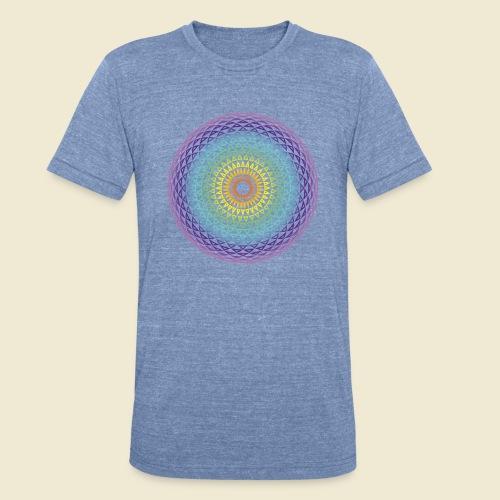 Torus Yantra Hypnotic Eye rainbow - Unisex Tri-Blend T-Shirt